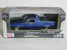 Motor Max 1/24 1970 Chevy El Camino SS 396 BLUE  79347 Diecast Model Car MMX106