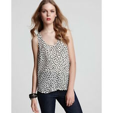 JOIE DREW SILK DOT TANK TOP SMALL