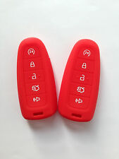 2pcs Red Fob Key Case Cover for Ford Explorer Escape Edge Lincoln MKS MKT MKX