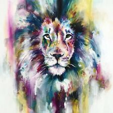 LION WATERCOLOUR ART IMAGE A4 Poster Gloss Print Laminated