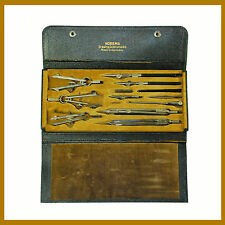 Vintage Nobema 10 Pieces Drawing Instruments In Original Case Made In Germany.