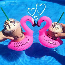 New Mini Flamingo Floating Inflatable Drink Can Holder Pool Bath Toy Party Pink