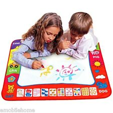 Children Aqua Doodle Drawing Toys 1 Painting Mat + 2 Water Drawing Pen Blue