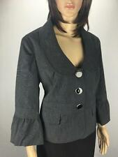 ** KATIES ** Size 14 Charcoal Womens Work Corporate Jacket - (A266)
