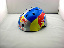 BMX SNOWBOARD SKATE SKI RED HELMET BULL MOUNTAIN BIKE TEAM HAND-PAINT S M L SIZE