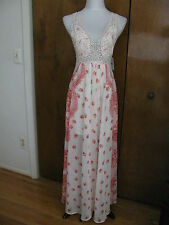 New w/tags Free People women's magnolia gorgeous lined maxi dress 2 retail $298