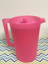 Tupperware One Gallon Pitcher Classic Pitcher Pink w/ Matching Seal New