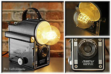 Upcycled Vintage Spartus Press Flash Camera & Edison Bulb Repurposed Desk Lamp