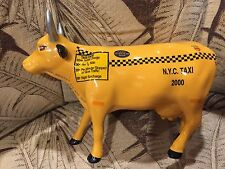 COW PARADE Figurine NYC TAXI CAB Statue NEW YORK 2000 Yellow Car