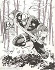 DEATHSTROKE Commission by Tony Daniel 11X14 Original Art Teen Titans