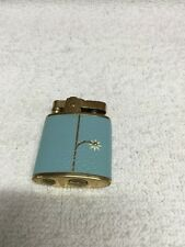 Vintage Buxton Cigarette Lighter With Blue Leather Cover