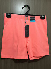 BNWT Ladies Size 10 Target Active Brand Fluro Coral Extra Short Bike Shorts