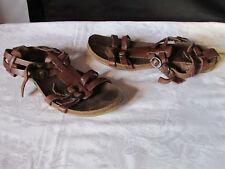 sandales kickers cuir marron 39