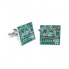 PCB Circuit Board CUFFLINKS Electrician Assembly Line Worker CHRISTMAS BOX