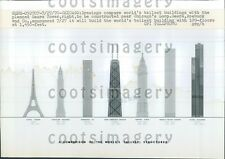 1970 Comparison Chart of World's Tallest Buildings in 1970 Press Photo