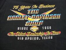 Harley-Davidson Motorcycles 71 Years Of Business Big Springs Texas T Shirt  L