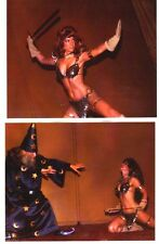 Two more RED SONJA 8 x 10 color photos of WENDY PINI at 1976 San Diego Comicon