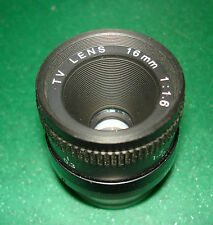 NEW 16MM MINI TV LENS 1:1.6, EXCELLENT CONDITION, READY TO WORK