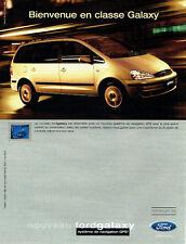 PUBLICITE ADVERTISING 016  2000  FORD  le nouveau Galaxy Gps