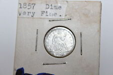 1857 Philadelphia Seated Liberty Dime Great Detial LOOK!! See Pictures with zoom