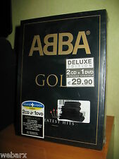 ABBA GOLD DELUXE EDITION GREATEST HITS 2 CD 1 DVD NUOVO SIGILLATO PAL