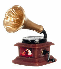 1:12 Non Working Resin Gramophone Dolls House Miniature Accessory Phonograph