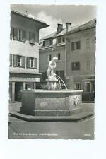 Black/White Postcard of Zell am See, Salzburg. Stadtbrunnen