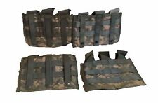 Lot of 4 US ARMY Military Surplus ACU MOLLE Triple Mag Magazine Pouch Shingle
