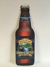 """Sierra Nevada Summerfest Crisp Lager Metal Sign Bottle Shape 18"""" x 6"""" NEW & F/S"""
