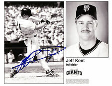 JEFF KENT SIGNED 8x10 TEAM ISSUED PHOTO COLLAGE GIANTS NY METS JAYS DODGERS JSA