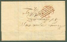 TOSCANA. Lettera da Firenze a Livorno del 1855. Timbro d'arrivo doppio cerchio