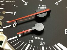 Red needles pointers  BMW E39 E38 E53 instrument cluster M5 look 5 7 X5 4.8is