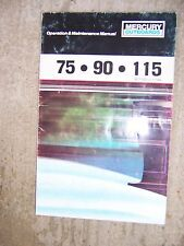 **1985 Mercury Outboard 75 90 115 HP Owner Operation Manual MORE IN OUR STORE  S