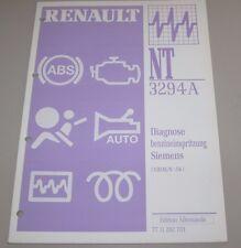 Werkstatthandbuch Renault Diagnose Benzineinspritzung Siemens Einspritzung 2000!