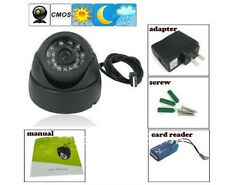 24 IR CCTV Dome Night Vision Camera DVR with Memory Card Slot Recording