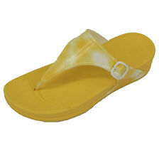 GENUINE WOMENS FITFLOP WALKSTAR RUBBER YELLOW/WHITE (B300)