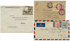 BRITISH EGYPT 1941-48 MULTI FRANKINGS 3 ENVELOPES AIRMAIL to EAST AFRICA GAZETTE