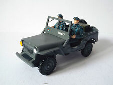 FUSILIER / BENGURION RAF WILLYS JEEP & FIGURES WW2 EXCELLENT (BS1224)