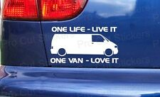 150mm (15cm) Sticker Based on VW Transporter Sticker Van One Life Decal T4 T5 d1