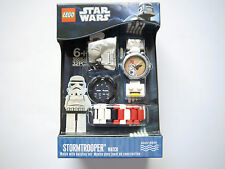 STAR WARS - STORMTROOPER WATCH Uhr Armbanduhr + Figur, Lego #9001949 boxed!