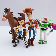 NEW 4 pcs Toy Story 3 Buzz Lightyear Woody Jessie PVC Action Figures SET + Charm