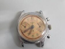 VINTAGE 1940's HEUER CHRONOGRAPH STAINLESS WATCH