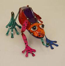 Dekobote, Metall Gecko L 15 cm bunt Gartendeko Gartenfigur Tier lustig