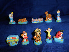 SCOOBY DOO Set 10 Matte Figurines French Porcelain FEVES Figures HANNA BARBERA