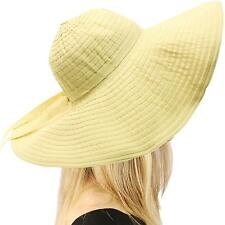 UPF 50+ Packable Foldable Floppy Crusher Sun Beach Hat Wide Wire Brim Natural