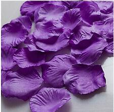 purple 500pcs Basket Rose Artificial Petals Silk Flower Wedding Party Decoration