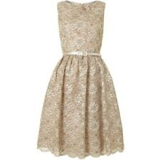 Eliza J Lace Prom Dress UK 8 Gold rrp £160.00 Box1426 L