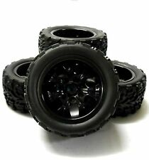 Hs211111bk 1/10 Escala Off Road Monster Truck Rc Ruedas y neumáticos Negro 7 habló 4