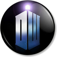 """DR WHO Logo 25mm 1"""" Pin Button Badge Time Space Traveller TV SHOW GEEK NERD"""