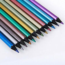 12 Colors /Box Non-Toxic Bright Metallic Color Drawing Sketching Pencils Dulcet